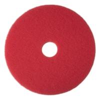 3M 5100 Floor Buffer Pads, Red, 20