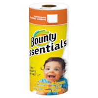 Bounty 2-Ply Essentials Single Roll Paper Towels, White, 40 Sheets/RL