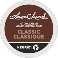 Laura Secord Hot Chocolate Mix Single-Serve K-Cup Pods, Classic, 24/BX
