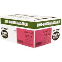 Dura Plus Elite OXO-Biodegradable Garbage Bags, Black, 26
