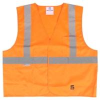 Gilet de sécurité en polyester solide Open Road, orange, taille G/TG