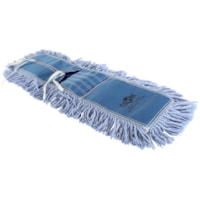 Globe Commercial Products Pro-Stat Tie-On Dust Mop Head, Blue, 24