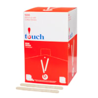 Touch Wooden Stir Sticks, 4 1/2