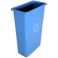 Globe Commercial Products Blue Slim 23-Gallon Container