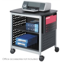 Safco Scoot Desk-Side Printer Stand, 26 3/8