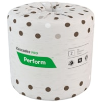 Cascades PRO Perform 2-Ply Standard Bathroom Tissue, Moka, 400 Sheets/RL, 80/CS