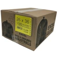 Sacs à ordures Eco II Manufacturing Inc., transparent, ultrarobuste, 26 po x 36 po, caisse de 125