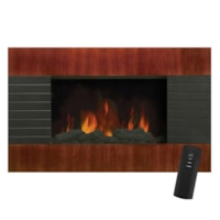 Modern Homes Wall-Mount Electric Fireplace, Mahogany