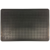 FloorTex Anti-Fatigue Bubble Mat, Black, 24