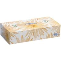 White Swan 2-Ply Flat Box Facial Tissue, White, 100 Sheets/BX