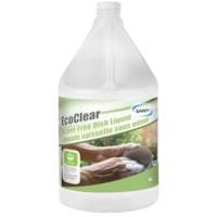 Détergent liquide à vaisselle EcoClear Sany+, sans parfum ni colorant, 4 l