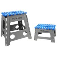 MyStooly Folding Step Stools, Grey with Blue, 9