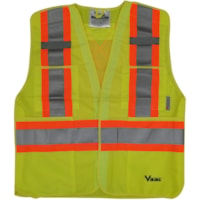 Viking 5-Point Tear Away Bright Green S/M Safety Vest