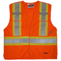 Viking 5-Point Bright Orange Tear Away 4XL/5XL Safety Vest