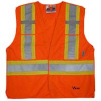Veste de sécurité orangé vif détachable en 5 points Viking, TTTTG / TTTTTG