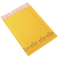 Enveloppes à bulles en papier kraft à bande autocollante 6 1/4 po x 9 po Ecolite PolyAir, nº 0, caisse de 250