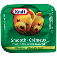 Kraft Single-Serve Peanut Butter Tubs, Smooth, 18 g, 200/CS