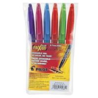 Pilot FriXion Ball Erasable Gel Stick Pens, Assorted Colours, Fine 0.7 mm, 6/PK