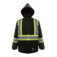 Open Road Black 150D Medium Safety Rain Jacket