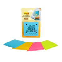 Post-it Super Sticky Full-Adhesive Notes in Rio De Janeiro Colour Collection, Unlined, 3