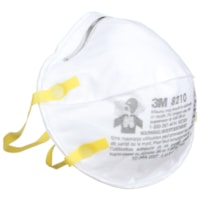 3M 8210 N95 Disposable Particulate Respirator, Non Valve, White, 2/PK