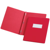 Oxford Report Covers with Embossed Border & Panel, Red