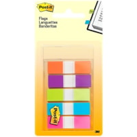 Post-it Standard Flags, With On-the-Go Dispenser, Assorted Bright Colours, 1/2