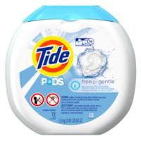 Détergent à lessive Tide PODS, parfum Free & Gentle, 72 brassées