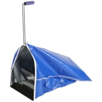 Globe Commercial Products Litter Scoop With Heavy-Duty Vinyl Bag