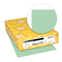 Neenah Exact Vellum Bristol Cover Stock Paper, Green, Letter Size, Ream