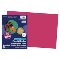 Pacon SunWorks Heavyweight Construction Paper, Scarlet Red, 12