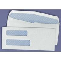 Enveloppes blanches commerciales à deux fenêtres pour chèques Quality Park