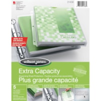 Wilson Jones Clear Extra Capacity Expanding Letter-Size Sheet Protectors