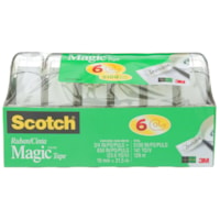 Scotch Magic Invisible Tape, 6 Pack Refillable