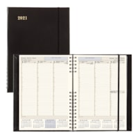 Brownline CoilPro 12-Month Weekly Executive Planner, 10 3/4