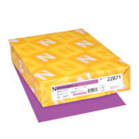 Neenah Astrobrights Cover Paper, Planetary Purple, Letter-Size, FSC And Green Seal Certified, 65 lb., Ream