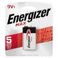 Energizer Max 9V Alkaline Battery, 1/PK (522BP)