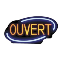 Royal Sovereign LED Open Sign, French