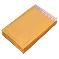 Grand & Toy Self-Adhesive Bubble Mailers, Kraft, #4, 9 1/2
