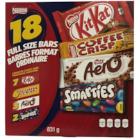 Nestlé Large Chocolate Bar Variety Pack, 18/PK - Ontario and Quebec Residents Only