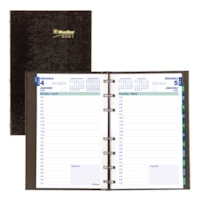 Blueline MiracleBind CoilPro 12-Month Daily Planner, 8