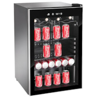 Royal Sovereign 4.5 cu ft Beverage Cooler, Black with Stainless Steel