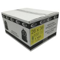 Sacs à ordures industriels Eco II Manufacturing Inc., transparent, 26 po x 36 po, caisse de 100