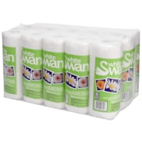 White Swan 2-Ply Professional Kitchen Towels, White, Roll of 70 Sheets, Case of 15