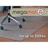 Tapis antistatique pour planchers durs et moquettes Cleartex Megamat Floortex, transparent, 46 po x 60 po