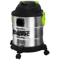 Aspirateur en acier inoxydable pour déchets secs et humides BigVac, 5 gallons