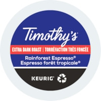 Timothy's® Single-Serve Coffee K-Cup Pods, Rainforest Espresso, Box of 24