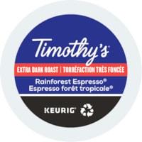 Dosettes K-Cup de café Timothy's, Espresso forêt tropicale, boîte de 24