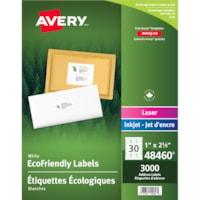 Étiquettes d'adresse et d'expédition blanches écologiques Avery