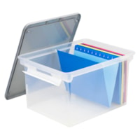 Storex Portable Clear Tote